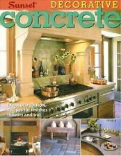 Decorative Concrete House & Garden Inside & Outside How To New Book