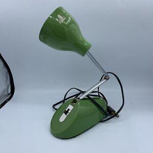 Vtg Telescoping Portable Radial Arm Green Lamp Desk Top 60s 70s Rare Color
