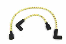 Yellow Black Cloth Spark Plug Ignition Wire Set Harley Softail Sportster Dyna