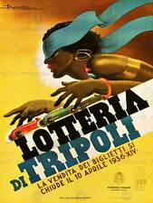Trípoli lotería Milán, Italia Vintage Publicidad Cartel Impresión De Pared Retro 1554PY