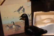 """Vintage 1973 Avon """"Canada Goose"""" Decantur w/Wild Country After Shave in Box"""