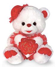 "14"" Valentine Stuffed Plush Love U Teddy Bear w Hat Oso Felpa Peluche Muñeco RD"