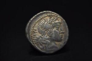 C Vibius Cf Pansa AR Denarius. 90 BC./N14A