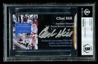 Clint Hill signed autograph auto JFK U.S. Secret Service Business Card BAS Slab