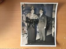 VINTAGE WEEGEE-ESQUE: News Photo of a Man Placing a Crown on Elaine Bassett