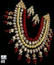 Designer Bollywood Gold Plated Jewelry Indian Kundan Bridal Necklace Set