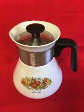 Vintage Corningware Spice Of Life Stove Top Coffee/Teapot - P-106-C - 6 Cup