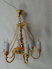 Heidi Ott Dollhouse Miniature Light 1:12 Scale 8 Up Arm Chandelier Lamp #YL6032