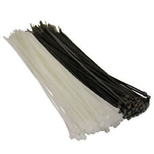 500 PACK x BLACK OR WHITE CABLE TIES, 100mm 140mm 200mm 300mm 370mm BULK BUY