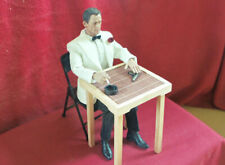 1/6 Scale Bamboo Table and Folding Chairs Furniture Doll House