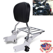Adjustable Passenger Backrest Sissy Bar w/Luggage Rack For Harley Touring 97-08