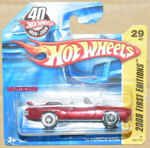 HOT WHEELS 2008 FIRST EDITIONS '70 PONTIAC GTO RED SHORT CARD W+