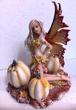 Harvest Fairy w Pumpkins Thanksgiving Statue Figurine Amy Brown Art Collection