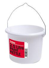 PRODEC 2.5 litres plastique peinture bouilloire peintres seau peut décorer pot (7PC)
