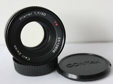 Carl Zeiss Planar 50mm f1.7 Red T Standard Prime Lens Contax / Yashica CY Mount