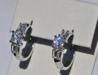 Echt 925 Sterling Silber Ohrringe Creolen Zirkonia Hochzeit Nr 213