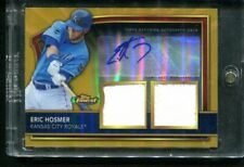 2011 Topps Finest ERIC HOSMER Rookie RC Gold Auto Autograph Dual Relic 6/69