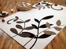 Designer Teppich Softstar Braun Creme Blumen