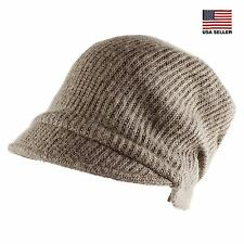 Wool Soft Warm Knit Ski Slouchy Casual Beanie Cap Band Hat Winter Womens Mens