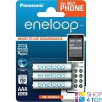 3 PANASONIC ENELOOP RECHARGEABLE AAA HR03 BATTERIES DECT PHONE 1.2V 750mAh NEW
