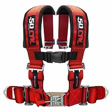 Red Race H Harness Seat Belt 4 Point Pads for Sand Rail 2x2 style Longtravel Car