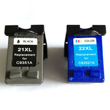 Reman ink Cartridge for HP 21XL/22XL(Black/Color) Deskjet F340 Printer