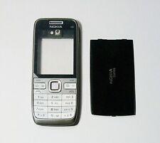 silver black Housing Cover Case Fascia Faceplate for Nokia E52