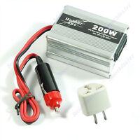 200W Car Power Inverter USB Converter Auto DC 12V To AC 220V Adapter Adaptor