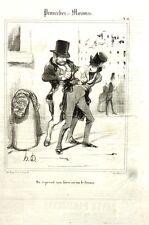 "Lithographie - Honoré DAUMIER, ""On reprend son bien où on le trouve"""