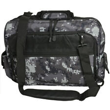 Military Style LAPTOP/DOCUMENT BAG - Black Digital Camo Holdall Carry Case