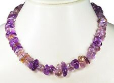 Trendy Necklace in Ametrine Stones from Different Large freiförmig