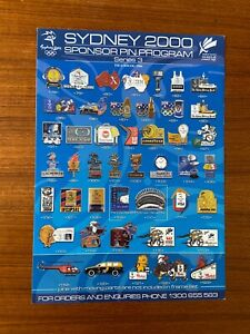 Sydney 2000 Olympic Sponsor Pin Program - Series 3 - Brochure/ Order Form ONLY