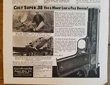 1935 Colt patent Firearms mfg Super 38 pistol gun ad