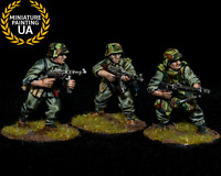 ⭐️Bolt Action Axis WWII 28mm Wargame German Grenadiers Troops Painted Squad