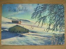 VINTAGE ITALIAN POSTCARD CHRISTMAS CARD - BUON NATALE - ITALY