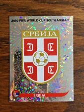 SERBIA SRBIJA TEAM PANINI FOIL STICKER, WORLD CUP SOUTH AFRICA 2010 #SA297