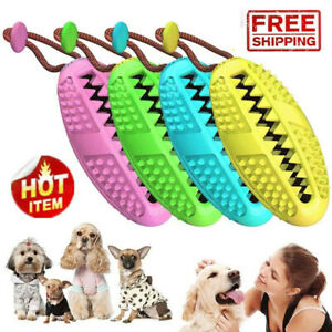 Dog Toothbrush Chew Stick Cleaning Toy Silicone Pet Brushing Oral Dental Care Cw