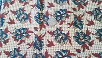 "COTTON  FABRIC - ""COUNTRY SPIRIT"" THIMBLEBERRIES RJR FASHIONS FLORALS ON TAN BTY"