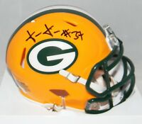 JOSH JACKSON AUTOGRAPHED SIGNED GREEN BAY PACKERS SPEED MINI HELMET JSA
