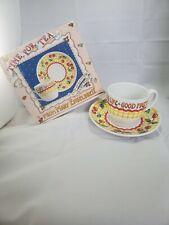 Mary Engelbreit Time For Tea Cup & Saucer Set w/Box