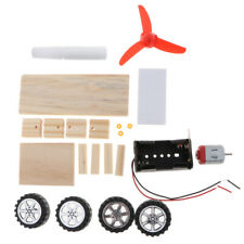 Kids DIY Assembly Wind Powered Car Model Physic Science Educational Toy Gift