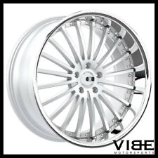 "20"" XO NEW YORK SILVER CONCAVE WHEELS RIMS FITS LEXUS LS430"