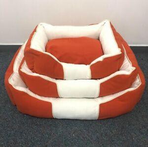 Orange Pet Dog Soft Bed Mat Cushion Removable Warm Pad Kitten Large Dog Mats