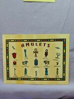 World Wonders In Pictures - Egypt - Egyptian Amulets Unsent Post Card Color Lg.