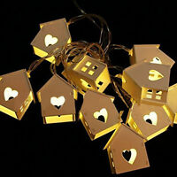10-LED Battery Operated Party Wedding Decor House Shape String Lamp Fairy Light