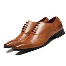Men Dress Shoes Leather Oxford Formal Brogue Business Black Brown Shoes Big Size