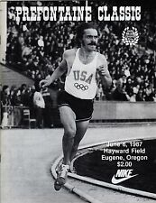 >1987 Steve PREFONTAINE CLASSIC PROGRAM Nike Pre Classic Olympic Uniform Cover!!