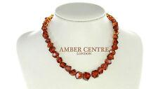 COGNAC coloré véritable ambre de la Baltique Perles 28 ,5 gr - A0312