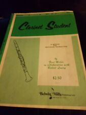Clarinet Student Student Instrumental Course-Level One (Elementary)