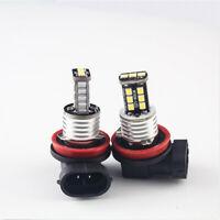 2pcs H11 H8 15W LED 6000K White 2835 SMD Canbus Fog Driving Light Bulbs